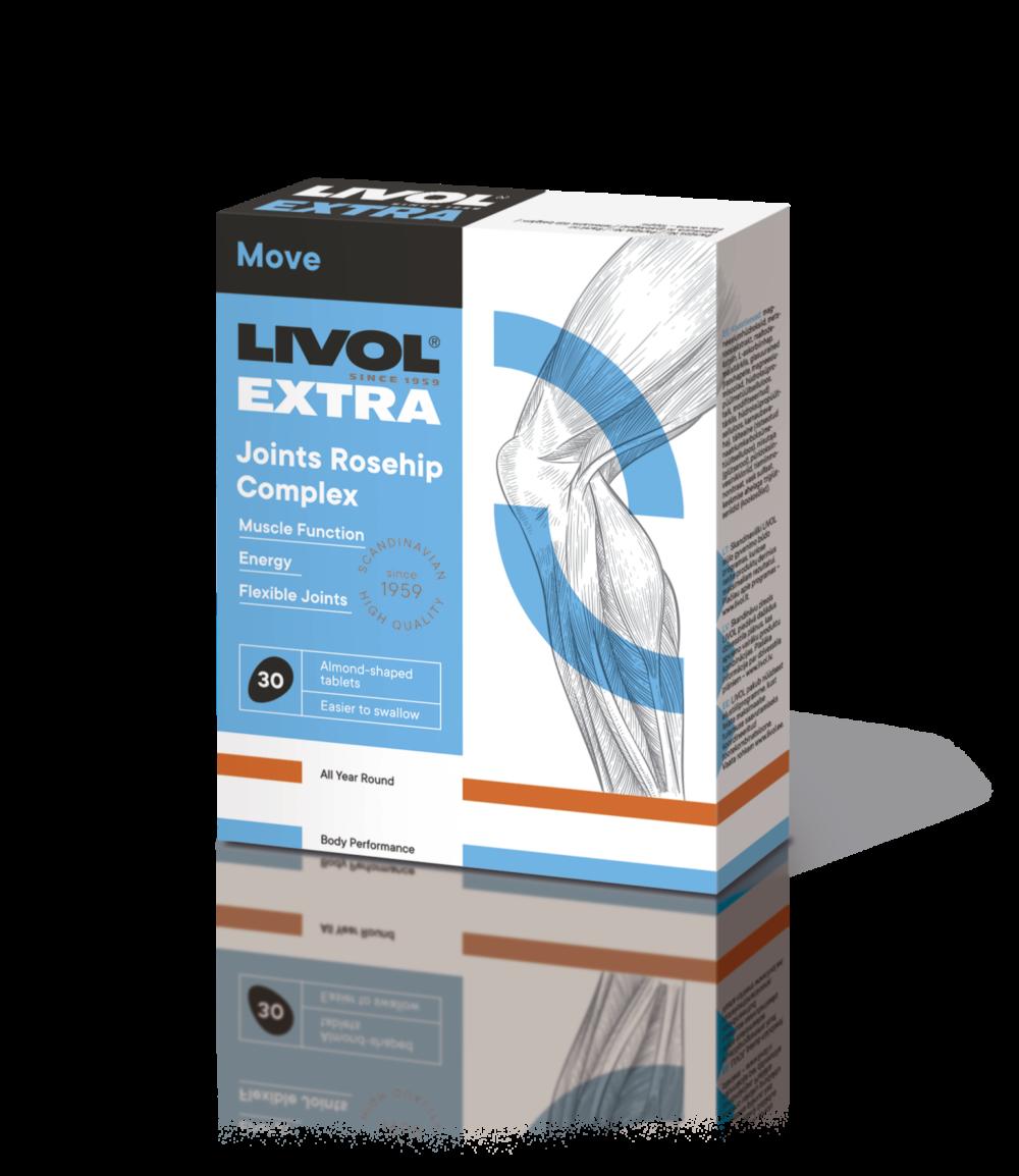 LIVOL EXTRA Joints Rosehip Complex, 30 tabl.
