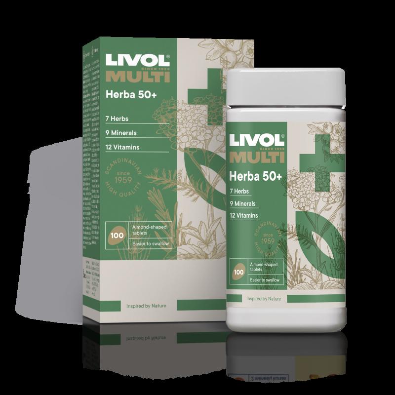 LIVOL MULTI Herba 50+, 100 tabl.